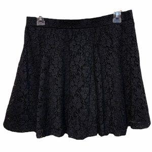 Black Lace Skater Circle Style Skirt